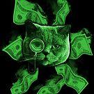 Rich Cat Burning Money by GrimDork