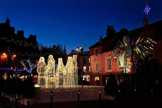 Carlisle Town Centre at Christmas Time by Jan Fialkowski