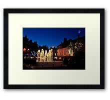 Carlisle Town Centre at Christmas Time Framed Print