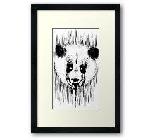 Creepy Panda Framed Print