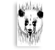 Creepy Panda Canvas Print