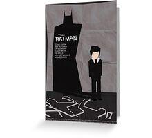 Batman 1989 - Saul Bass Inspired Poster Greeting Card