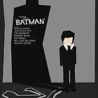 Batman 1989 - Saul Bass Inspired Poster (Untextured) by Alex Clark