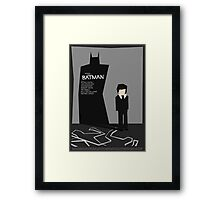 Batman 1989 - Saul Bass Inspired Poster (Untextured) Framed Print