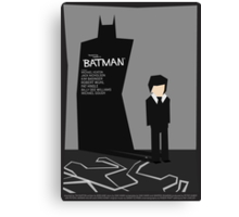 Batman 1989 - Saul Bass Inspired Poster (Untextured) Canvas Print