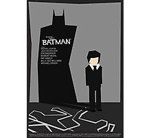 Batman 1989 - Saul Bass Inspired Poster (Untextured) Photographic Print