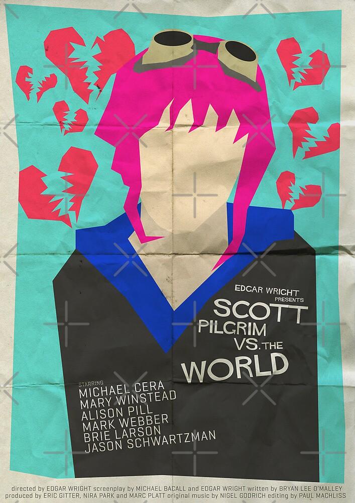 Scott Pilgrim Verses The World - Saul Bass Inspired Poster by Alex Clark