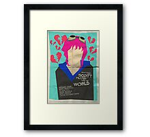 Scott Pilgrim Verses The World - Saul Bass Inspired Poster Framed Print