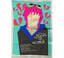 Scott Pilgrim Verses The World - Saul Bass Inspired Poster Photographic Print