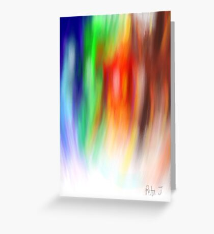 Coloured Feathers Greeting Card