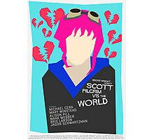 Scott Pilgrim Verses The World - Saul Bass Inspired Poster (Untextured) Photographic Print