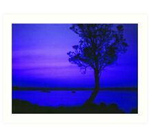 Sunset in Blue Art Print