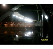 Durban Moses Mabhida Stadium at Night Photographic Print