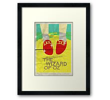 Wizard Of Oz - Saul Bass Inspired Poster Framed Print