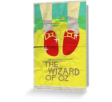 Wizard Of Oz - Saul Bass Inspired Poster Greeting Card