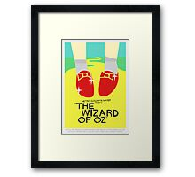 Wizard Of Oz - Saul Bass Inspired Poster (Untextured) Framed Print