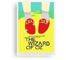 Wizard Of Oz - Saul Bass Inspired Poster (Untextured) Canvas Print
