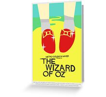 Wizard Of Oz - Saul Bass Inspired Poster (Untextured) Greeting Card