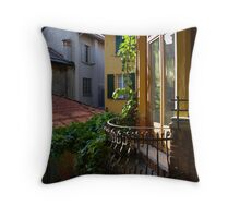 Back Alley View Throw Pillow