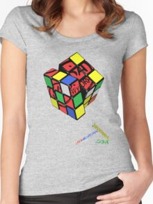 rubiks by rogers bros Women's Fitted Scoop T-Shirt