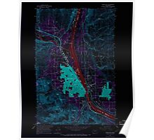 USGS Topo Map Washington State WA Wenatchee 244604 1966 24000 Inverted Poster