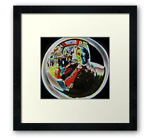 looking through beer goggles Framed Print