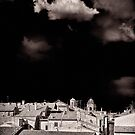 Cloud over Tuscania village, Italy. by Silvia Ganora