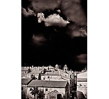 Cloud over Tuscania village, Italy. Photographic Print