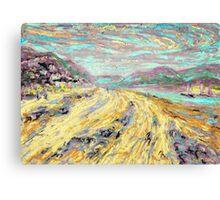 Sandy beach in Aberdyfi / Aberdovey, Wales, UK Canvas Print