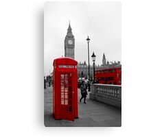 London Red Telephone box and Bus Canvas Print