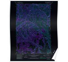 USGS Topo Map Washington State WA Saddle Butte 243554 1971 24000 Inverted Poster