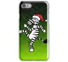 Christmas Zebra iPhone Case/Skin
