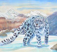Snow Leopard by Redbarron