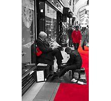 Shoeshine boy Photographic Print