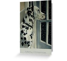 Let It Snow (Christmas card with greeting on front) Greeting Card