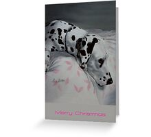 All Was Calm, All Was Bright (Christmas card with greeting on front) Greeting Card