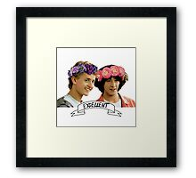 Be Excellent To Eachother Framed Print