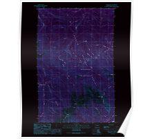USGS Topo Map Washington State WA Tyler Peak 244403 1990 24000 Inverted Poster