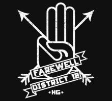 Farewell District 12 - white logo T-Shirt