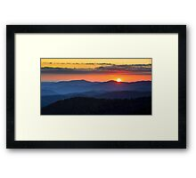 Sunset from Clingman's Dome - Great Smoky Mountains Framed Print