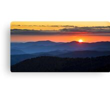 Sunset from Clingman's Dome - Great Smoky Mountains Canvas Print