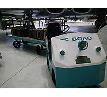 BOAC Baggage Trolly Photographic Print