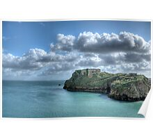 St Catherines Rock Tenby Pembrokeshire 3 Poster