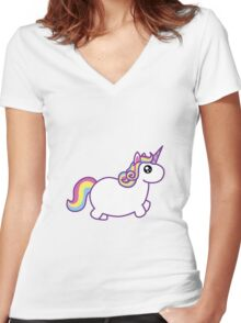 Unicorn Women's Fitted V-Neck T-Shirt