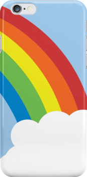 80's Retro Rainbow iPhone Case by teeboutique