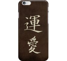 Luck & Love Brown iPhone Case/Skin