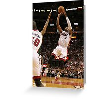 dwyane wade miami heat Greeting Card