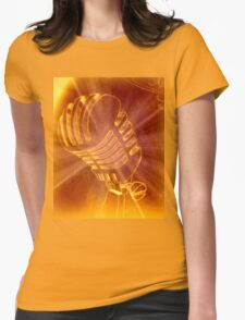Shining Microphone Womens Fitted T-Shirt
