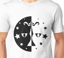 Libra - Black and White Unisex T-Shirt