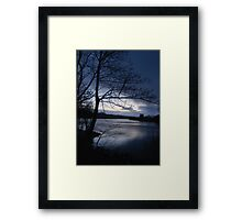 Hail Shower Coming Framed Print